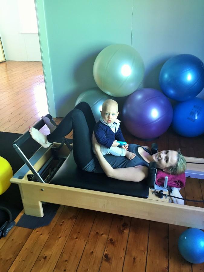Pilates and babypuke